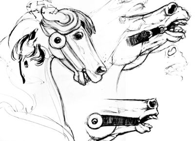 Grotesque Carousel Sketches
